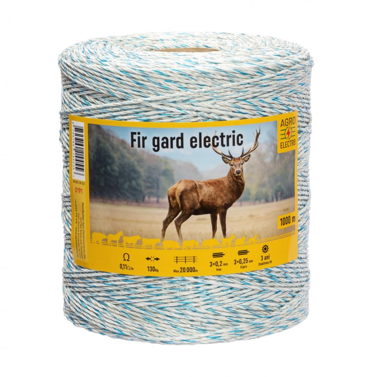 Fir gard electric - 1000m - 130kg - 0,11Ω/m