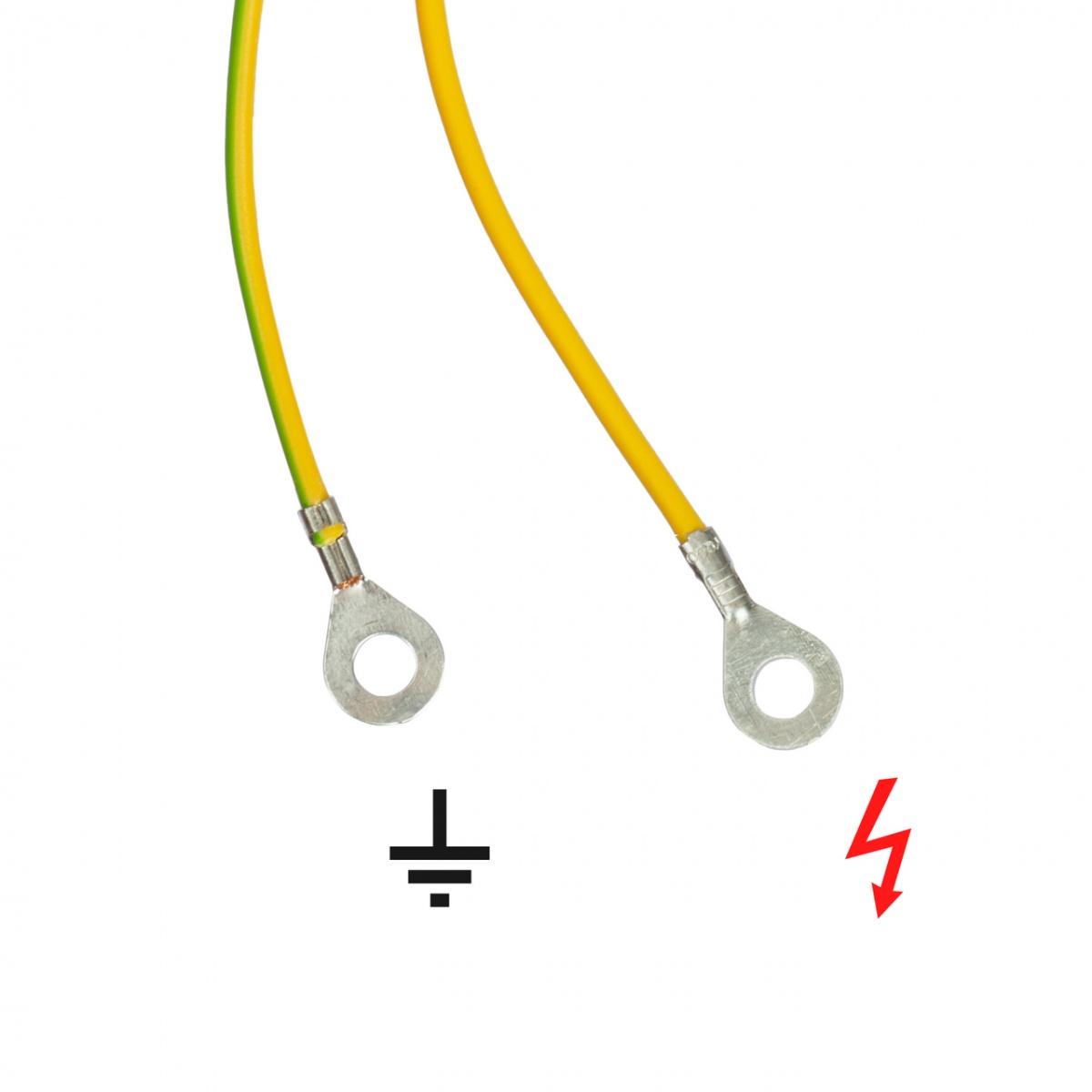 Cablu conexiune aparat gard electric - gard + împământare