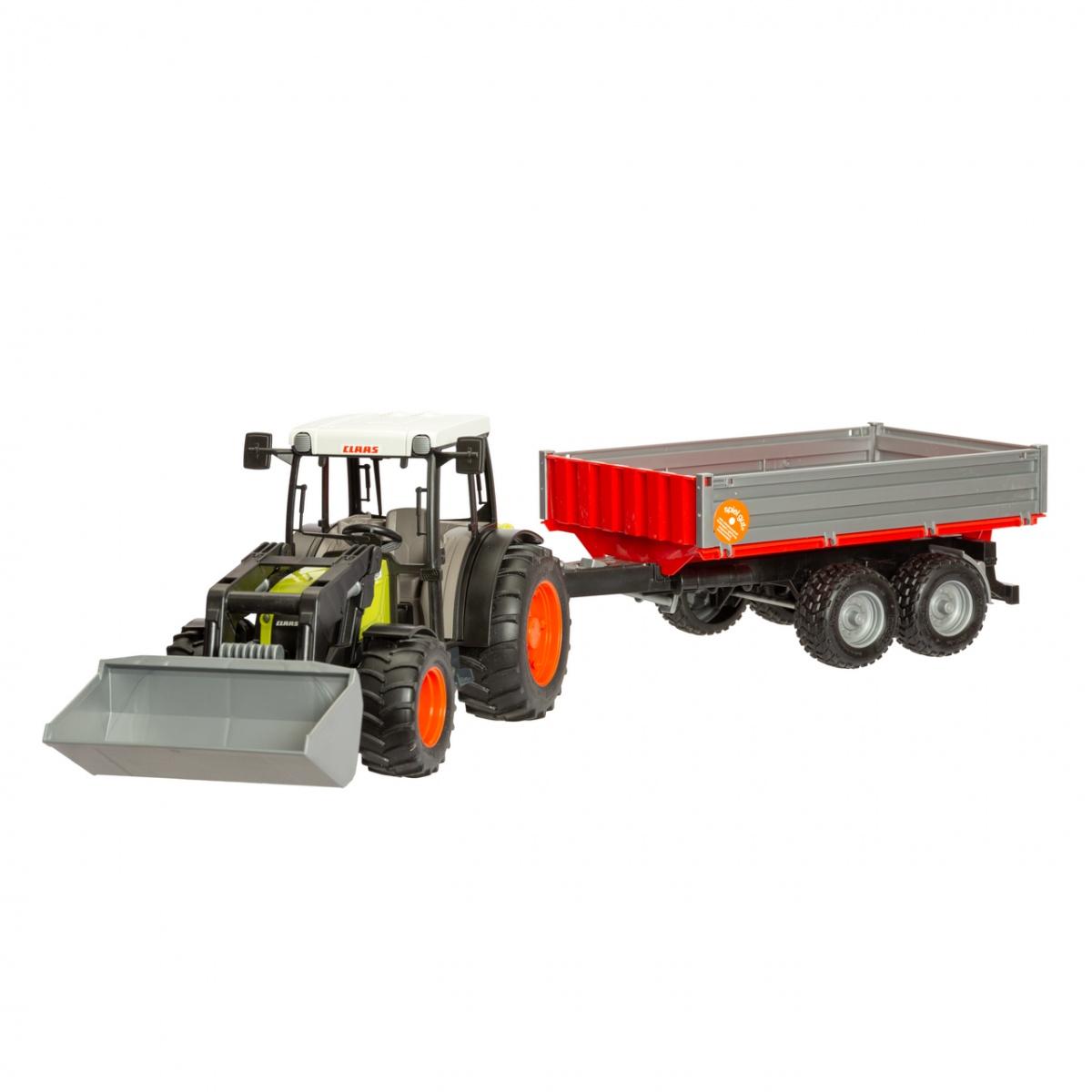 Tractor Claas Nectis 267F cu încărcător frontal și remorcă