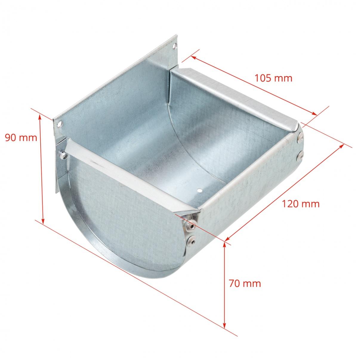 Hrănitoare metalică pentru rozătoare, 12 cm