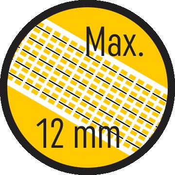 Bandă max. 12 mm