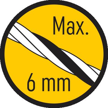 Fir max. 6 mm