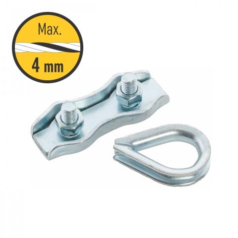 Conector poartă pentru fir 2-4mm, 2 seturi<br/>7Lei<br><small>0125</small>