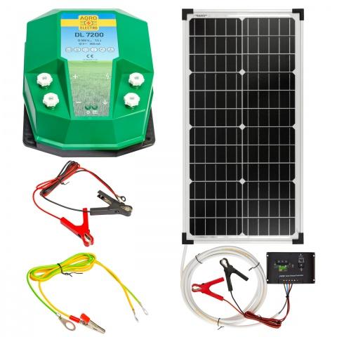 Aparat gard electric DL7200, 7,2Joule, cu sistem solar 30W