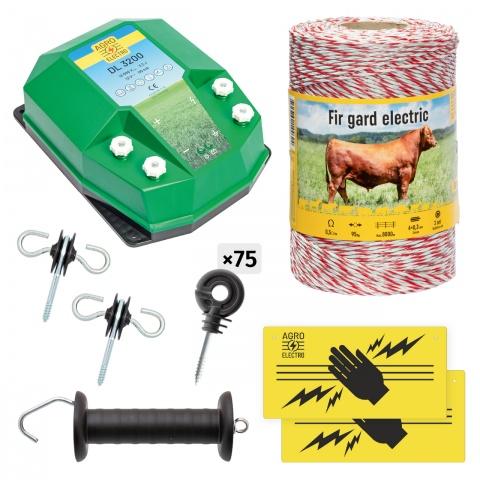 Pachet de bază gard electric 500m, 3,2Joule, pentru animale domestice<br/>502Lei<br><small>bd-32-500</small>