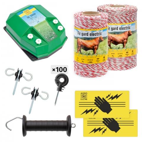 Pachet de bază gard electric 750 m, 3,2Joule, pentru animale domestice<br/>571Lei<br><small>bd-32-750</small>