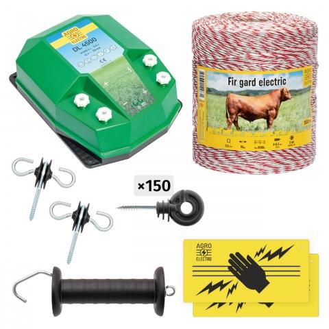 Pachet de bază gard electric 1000 m, 4,5Joule, pentru animale domestice<br/>670Lei<br><small>bd-45-1000</small>