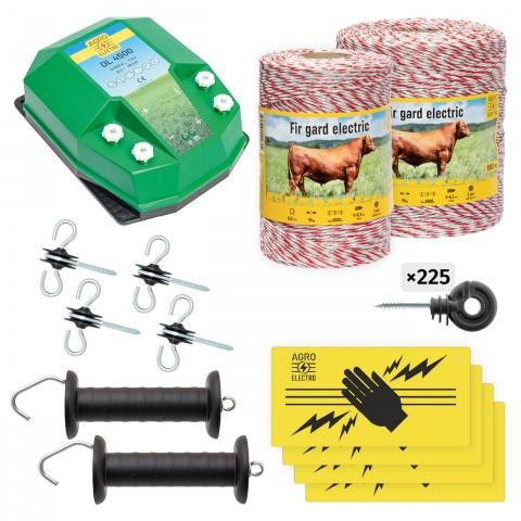 Pachet de bază gard electric 1500 m, 4,5Joule, pentru animale domestice<br/>830Lei<br><small>bd-45-1500</small>