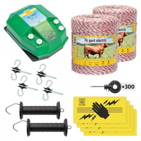 Pachet de bază gard electric 2000 m, 4,5Joule, pentru animale domestice<br/>950Lei<br><small>bd-45-2000</small>