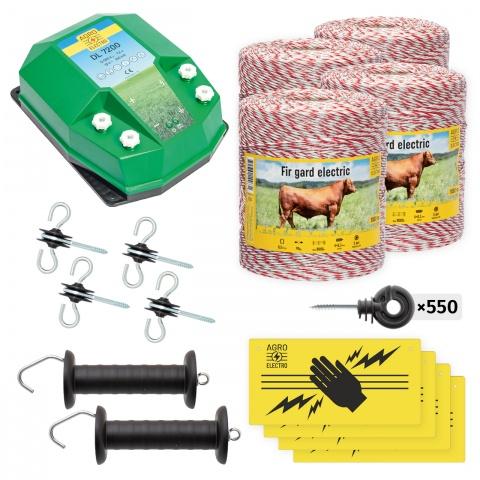Pachet de bază gard electric 4000 m, 7,2Joule, pentru animale domestice<br/>1.700Lei<br><small>bd-72-4000</small>