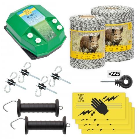 Pachet de bază gard electric 1500 m, 4,5Joule, pentru animale sălbatice<br/>890Lei<br><small>bw-45-1500</small>