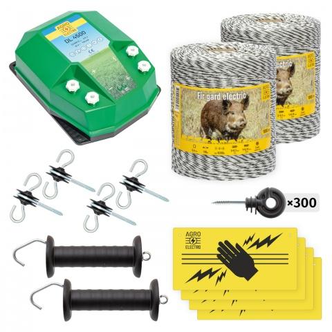 Pachet de bază gard electric 2000 m, 4,5Joule, pentru animale sălbatice<br/>1.050Lei<br><small>bw-45-2000</small>