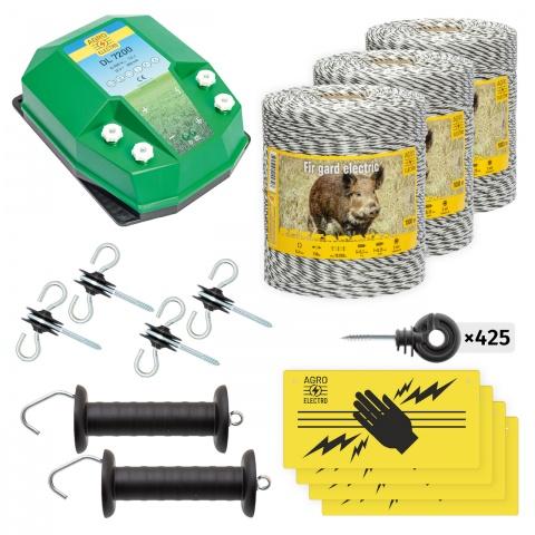 Pachet de bază gard electric 3000 m, 7,2Joule, pentru animale sălbatice<br/>1.600Lei<br><small>bw-72-3000</small>