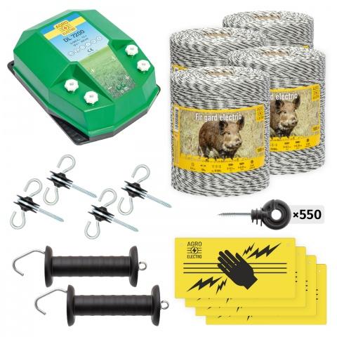 Pachet de bază gard electric 4000 m, 7,2Joule, pentru animale sălbatice<br/>1.900Lei<br><small>bw-72-4000</small>