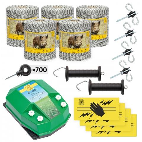 Pachet de bază gard electric 5000 m, 7,2Joule, pentru animale sălbatice<br/>2.220Lei<br><small>bw-72-5000</small>