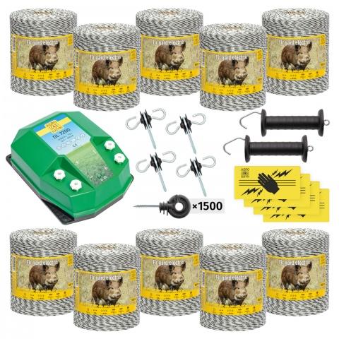 Pachet de bază gard electric 10000 m, 7,2Joule, pentru animale sălbatice<br/>3.800Lei<br><small>bw-72-10000</small>