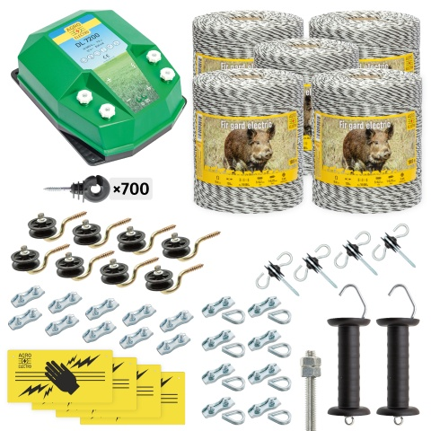 Pachet gard electric complet 5000 m, 7,2 Joule, pentru animale sălbatice<br/>2.310 Lei<br><small>cw-72-5000-0</small>
