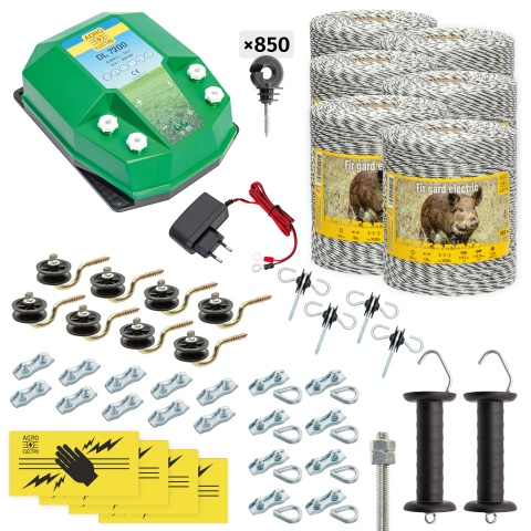 Pachet gard electric complet 6000m, 7,2Joule, 230V, pentru animale sălbatice<br/>2.675Lei<br><small>cw-72-6000-a</small>