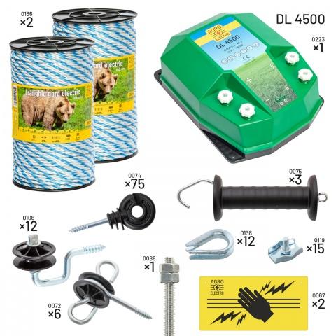 Pachet gard electric pentru apicultori. Cu DL4500, alimentare de la 12V<br/>830Lei<br><small>kit-apic-dl4500-0</small>