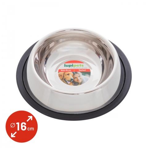 Castron din inox pentru câini, Ø16cm, 450ml<br/>10Lei<br><small>0339</small>
