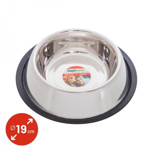Castron din inox pentru câini, Ø19cm, 900ml<br/>17Lei<br><small>0340</small>