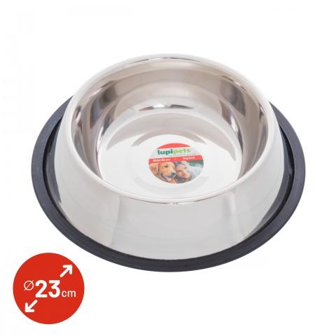 Castron din inox pentru câini,  Ø23cm, 1800ml<br/>22Lei<br><small>0341</small>