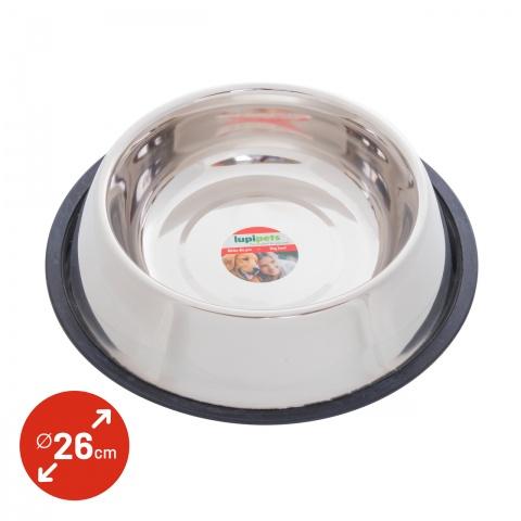 Castron din inox pentru câini,  Ø26cm, 2700ml<br/>29Lei<br><small>0342</small>