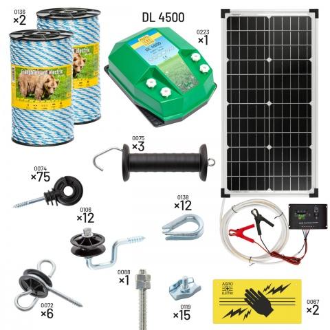 Pachet gard electric pentru apicultori. Cu DL4500, alimentare cu sistem solar<br/>1.179Lei<br><small>kit-apic-dl4500-s</small>