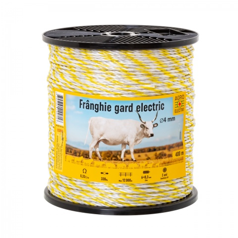 Frânghie gard electric - 400 m - 330 kg - 0,33 Ω/m<br/>150 Lei<br><small>0358</small>