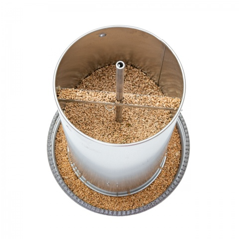 Hrănitoare pentru păsări adulte, metal galvanizat, 22l