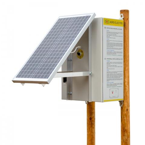 Aparat gard electric compact DL3200 cu sistem solar 30W și 2 acumulatoare de 12V<br/>1.430Lei<br><small>0237</small>