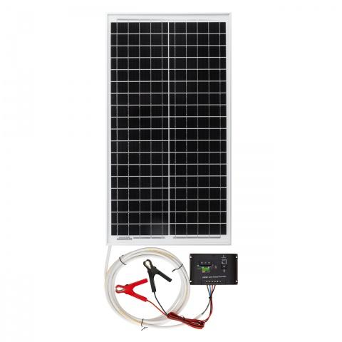 Panou solar monocristalin 30W cu regulator de încărcare<br/>370Lei<br><small>0090</small>