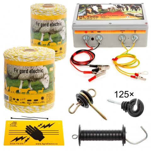 kit-750m-a - Pachet gard electric cu fir 750m, pentru 3,51 sau 0,87 Ha - 575Lei