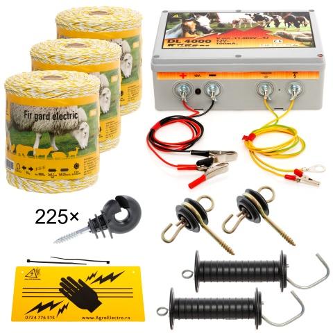 kit-1500m-a - Pachet gard electric cu fir 1500m, pentru 14 sau 3,51 Ha - 810Lei