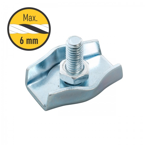 Conector frânghie 4-6mm, simplu<br/>3Lei<br><small>0119</small>