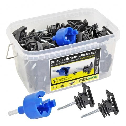Izolator pentru bandă și fir, 100buc. + dispozitiv de înfiletare