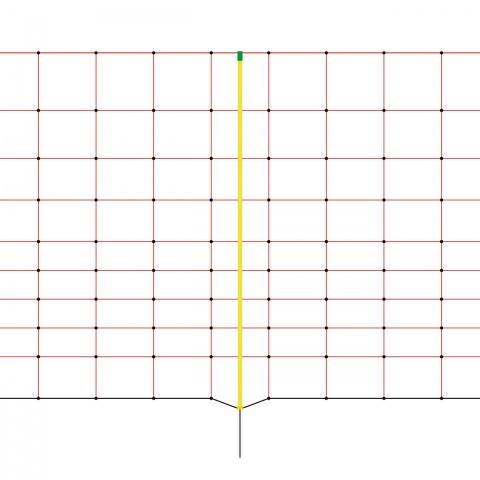 0159 - Plasă gard electric 50 m × 108 cm - 465Lei