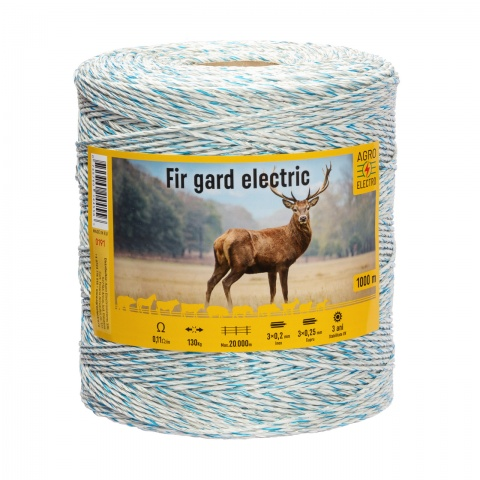 Fir gard electric - 1000 m - 130 kg - 0,11 Ω/m<br/>340 Lei<br><small>0191</small>