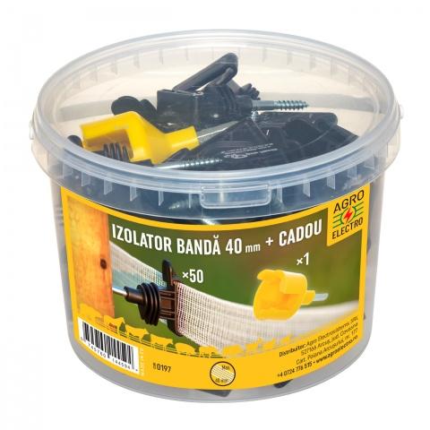 0197 - Izolator pentru bandă și fir, 50buc. + dispozitiv de înfiletare - 48Lei