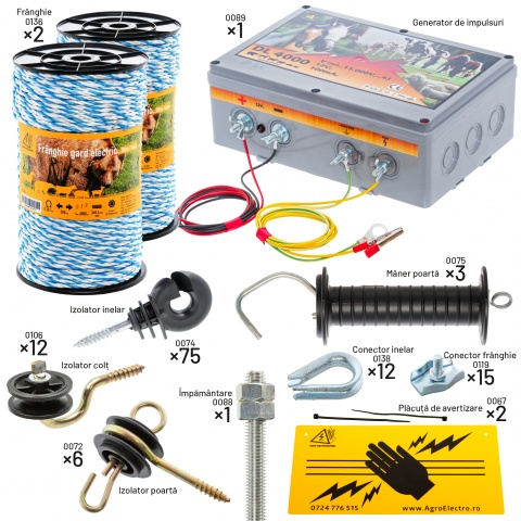 Pachet gard electric pentru apicultori<br/>800Lei<br><small>kit-apic</small>