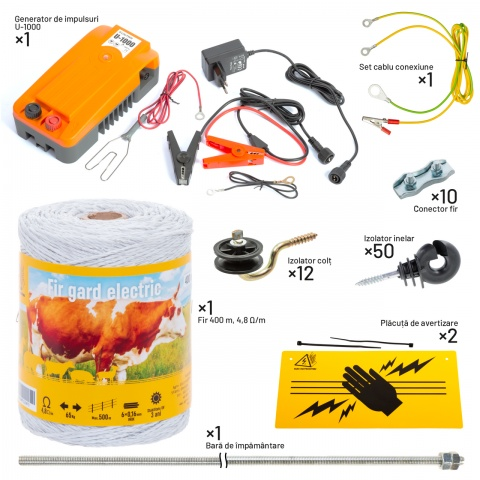 Pachet gard electric pentru câini<br/>459Lei<br><small>kit-canis-a</small>