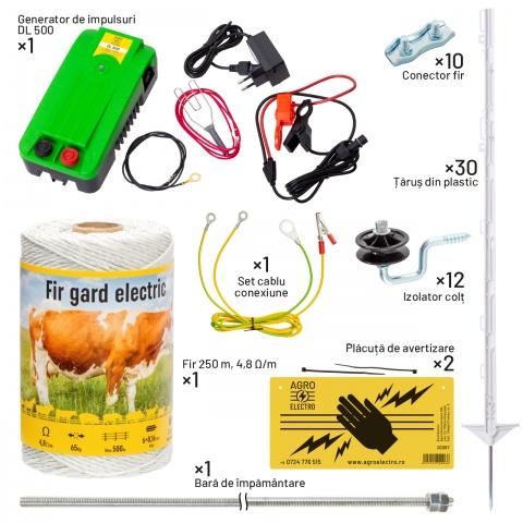 Pachet gard electric pentru câini - cu țăruși din plastic<br/>605Lei<br><small>kit-canis-b</small>