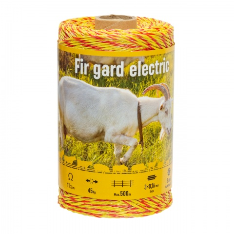 Fir gard electric - 250 m - 45 kg - 11 Ω/m<br/>33 Lei<br><small>0225</small>