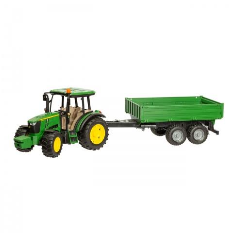 0261 - Tractor John Deere 5115M cu remorcă - 149Lei