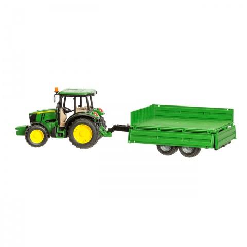 Tractor John Deere 5115M cu remorcă