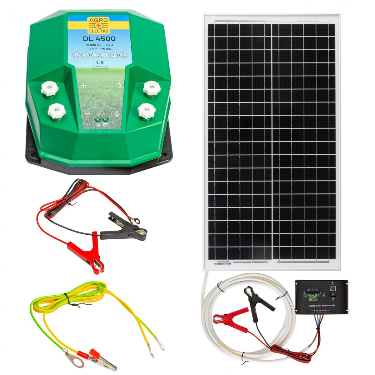 Aparat gard electric DL4500, 4,5Joule, cu sistem solar 30W