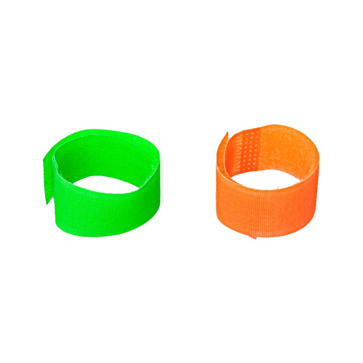 Set brățări de marcaj pentru oi și capre, verde + portocaliu, 10buc.