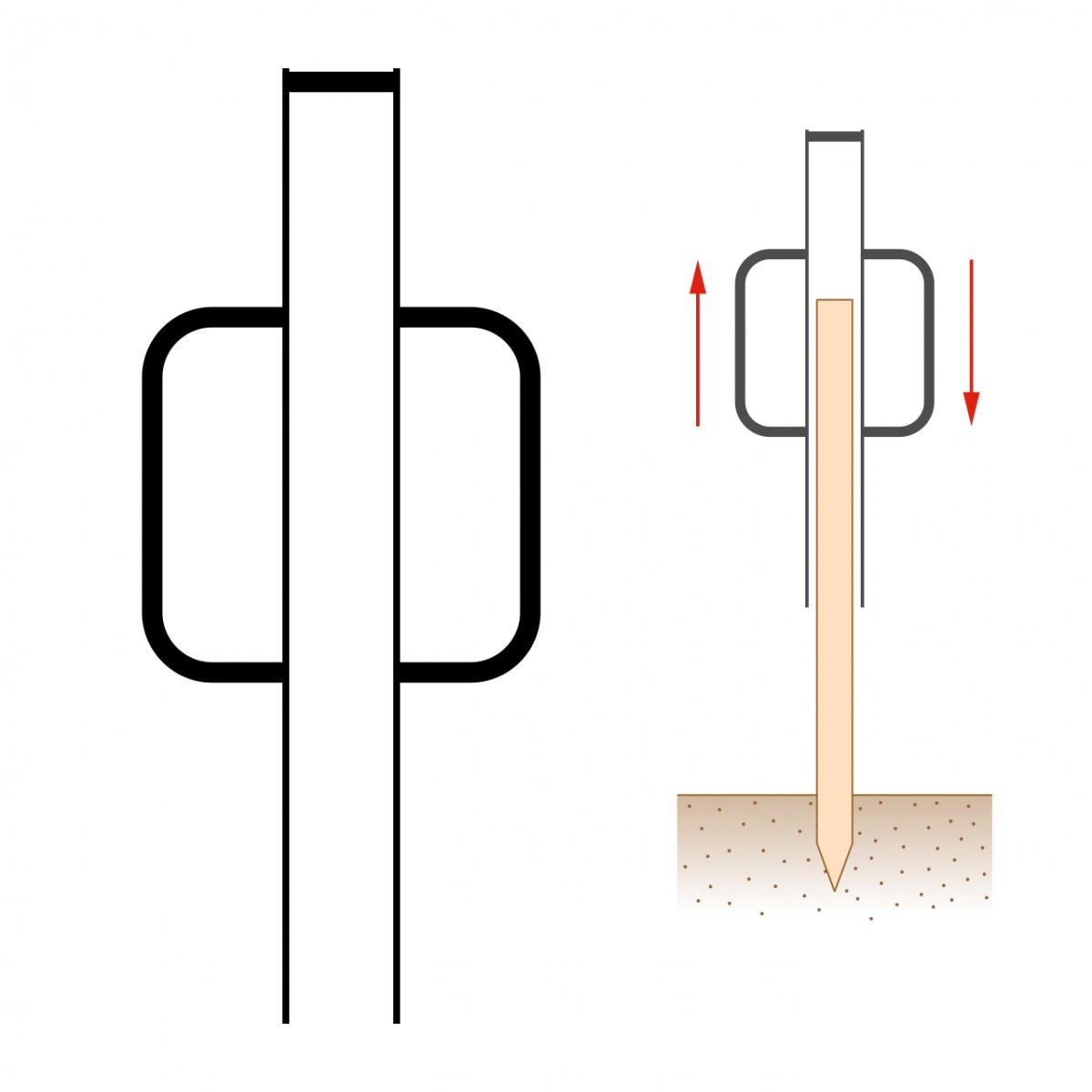 Ciocan pentru stâlpi din lemn