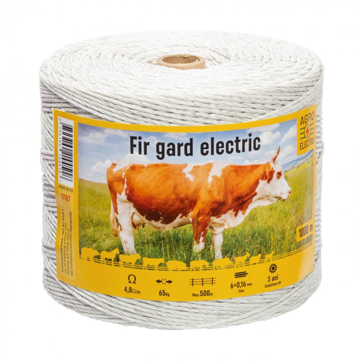 Fir gard electric - 1000m - 65kg - 4,8Ω/m
