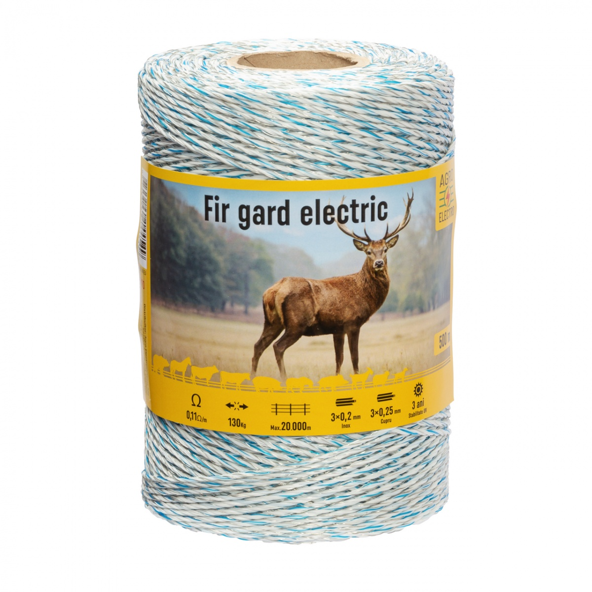 Fir gard electric - 500 m - 130 kg - 0,11 Ω/m